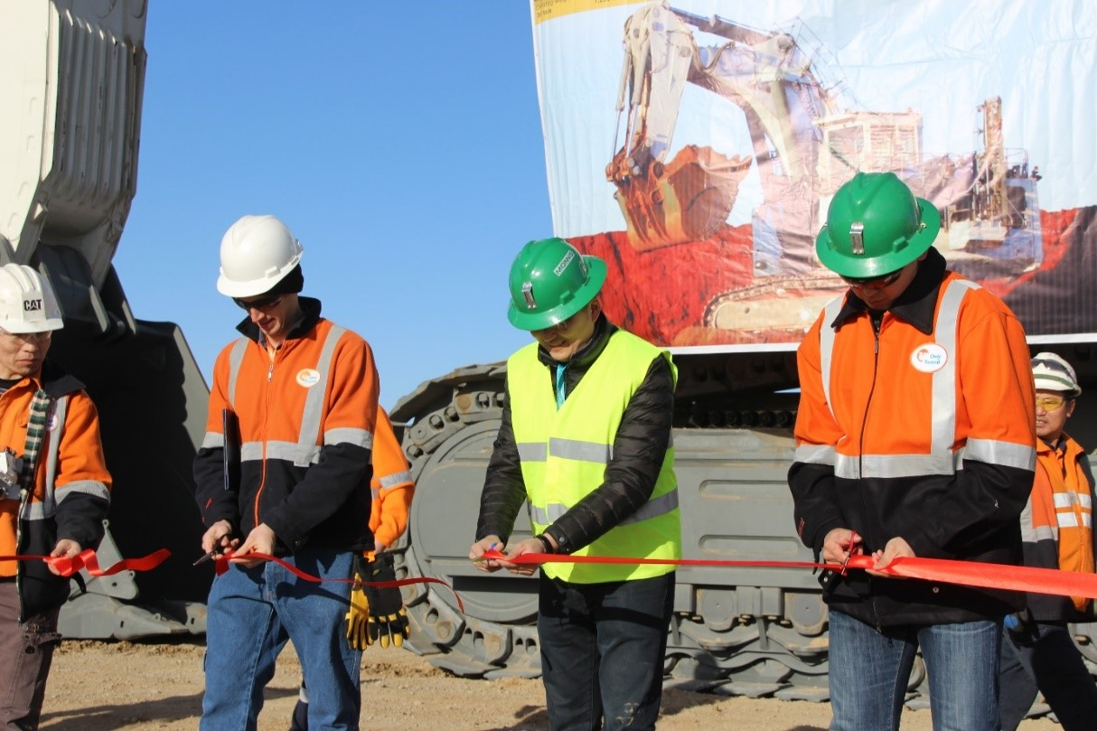 MONNIS MINING EQUIPMENT LLC DELIVERY CEREMONY OF LIEBHERR