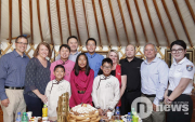 Five adopted Mongolian children visit the land of their birth