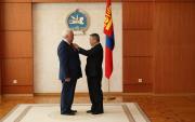 Mongolian President awards Russian 'oil' teacher with Order of the Polar Star