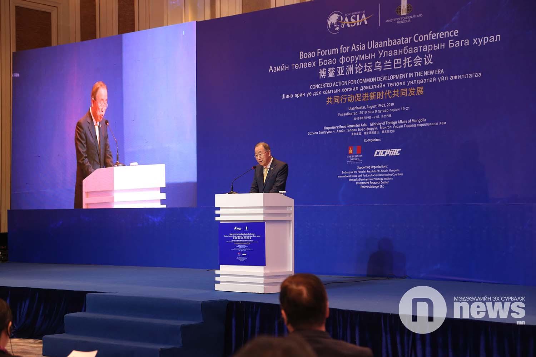 Ban Ki-moon: international cooperation involving Mongolia