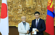 Japan gives training grant to Mongolian athletes for Tokyo Olympics