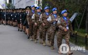 Mongolian women in uniform