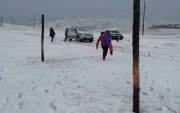 First snow falls in western Mongolia
