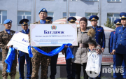 Mongolian peacekeepers help single mother and her four children