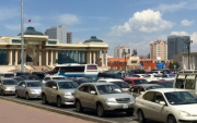 Children caught driving in Mongolian capital