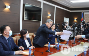 Mongolia's Democratic Party presents election programme