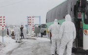 Bus brings 31 students from Russia home