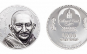 Mongolia releases gold and silver coins featuring Mahatma Gandhi