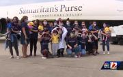 Mongolian children who received heart surgery return home