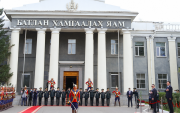 President pays tribute to the Black Banner of the Mongolian Army