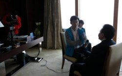 Хятад улсын төв телевизэд ярилцлага өгөв