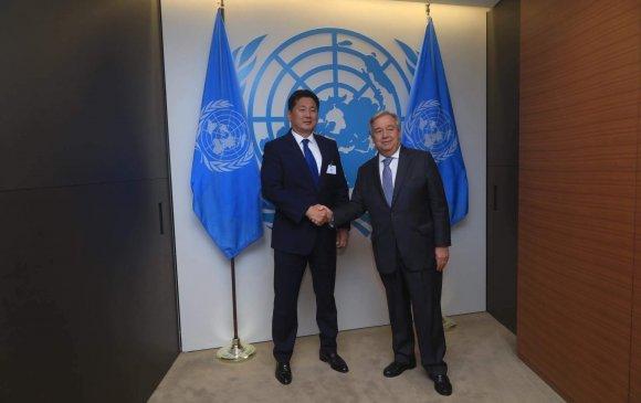 НҮБ-ын Ерөнхий нарийн бичгийн дарга А.Гутерресийг Монгол Улсад айлчлах урилгатайг дахин нотлов