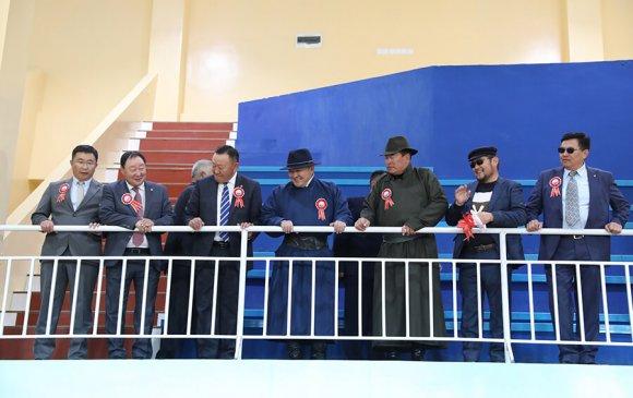 Ерөнхийлөгч Завхан аймгийн Усан бассейн бүхий спорт цогцолборын нээлтийн ёслолд оролцов