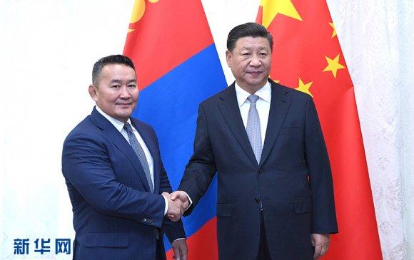 БНХАУ-ын дарга Ши Жиньпин Монгол улсын Ерөнхийлөгч Х.Баттулгатай уулзав