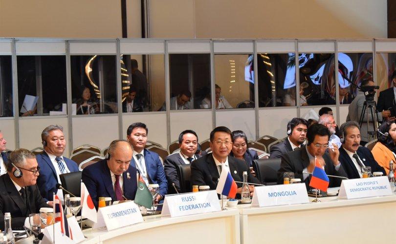 Л.Энх-Амгалан Евразийн орнуудын парламентын спикерүүдийн III чуулга уулзалтад оролцож байна
