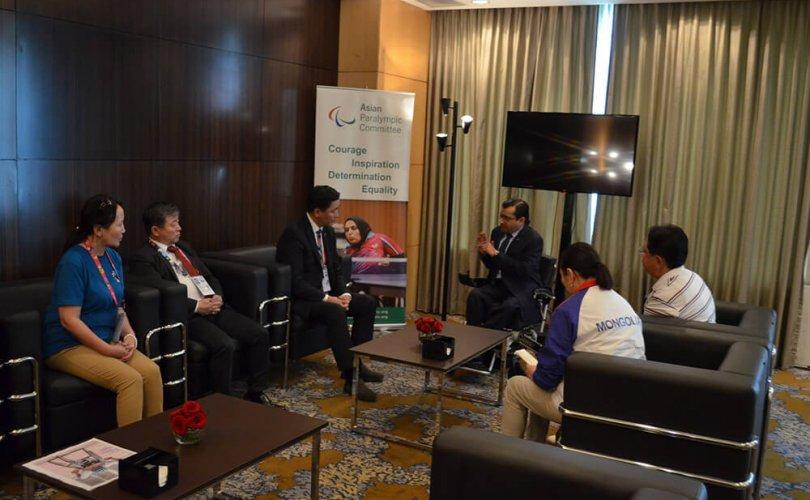 Ё.Баатарбилэг Азийн паралимпийн хорооны ерөнхийлөгч Мажид Рашидтай уулзав