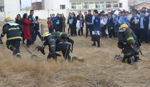 Гамшгаас хамгаалах тактикийн сургууль хийлээ