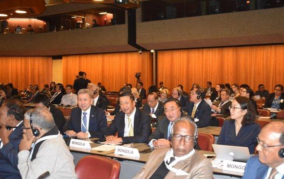 Л.Энх-Амгалан тэргүүтэй төлөөлөгчид ОУПХ-ны Ассамблейн 139 дүгээр чуулганд оролцож байна