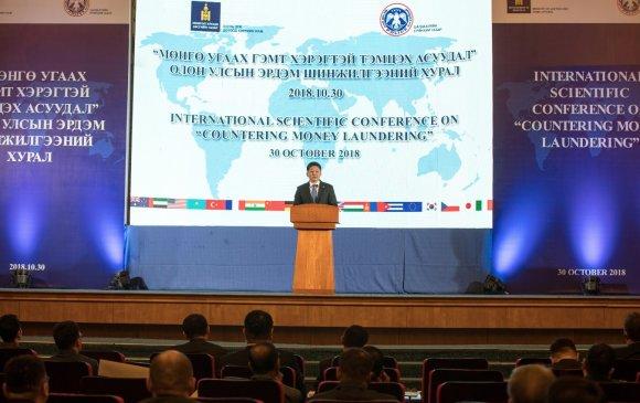У.Хүрэлсүх: Мөнгө угаах гэмт хэрэгтэй тэмцэхэд улс орнуудын хамтын ажиллагаа нэн чухал