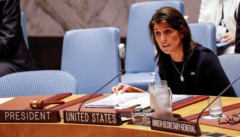 АНУ-аас НҮБ-д суугаа байнгын төлөөлөгч Хейли огцорно