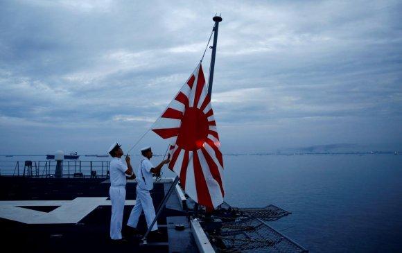 Япон мандах нартай далбаанаас болж тэнгисийн сургуулилтад оролцохоос татгалзав