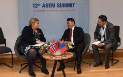 Монгол Улсын Ерөнхийлөгчид Норвегийн Ерөнхий сайд бараалхав