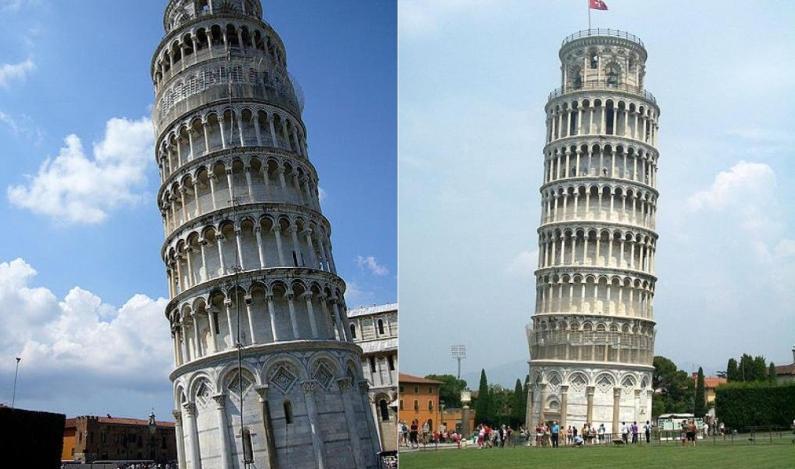 Италид баригдсан Пизагийн цамхаг зурган илэрцүүд