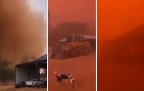 Австралийн тэнгэр улбар шар болжээ