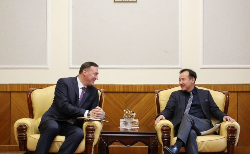 Д.Цогтбаатар Бүгд Найрамдах Беларусь улсын элчин сайдыг хүлээн авч уулзав