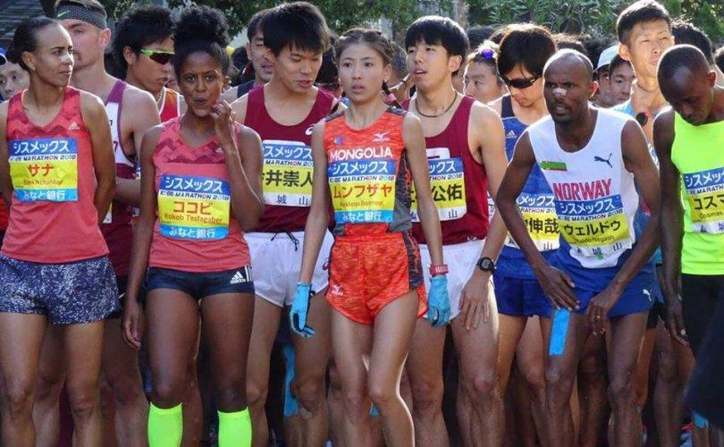 Б.Мөнхзаяа Японд болсон марафонд дэд байр эзлэв