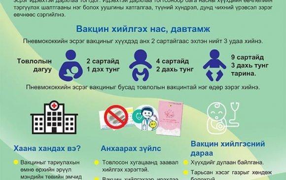 Пневмококкийн эсрэг вакцины ач холбогдол, анхаарах зүйлс
