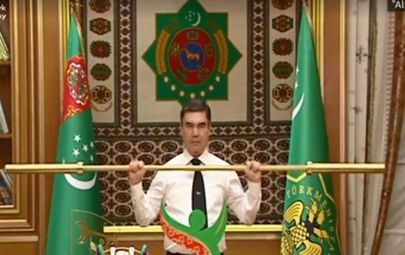 """Туркменистаны ерөнхийлөгч """"алтан гол"""" өргөв"""