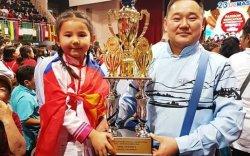 Хөвсгөлийн зургаан настай охин дэлхийн аварга боллоо