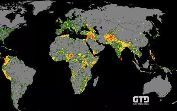 Эдийн засаг, энхтайваны институцээс гаргасан олон улсын терроризмын 2018 оны үзүүлэлт