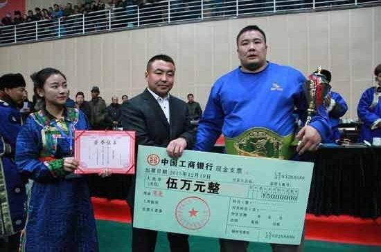 Улсын арслан П.Бүрэнтөгс 50 мянган юаниар шагнуулжээ