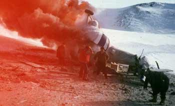МИ-8 нисдэг тэрэг осолдож, 20 гаруй хүн амиа алдав /2001.01.14/