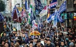 Шинэ оны эхний өдөр Хонгконгод жагсаал болов