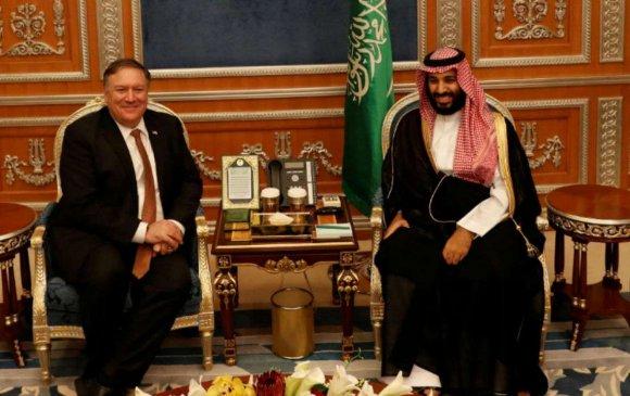 Майк Помпео Саудын Арабын хунтайжтай уулзлаа