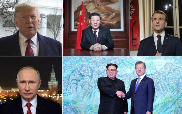 Дэлхийн удирдагчдын шинэ жилийн мэндчилгээ