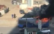 """""""Улаанхуаран"""" чиглэлийн том оврын автобус шатжээ"""