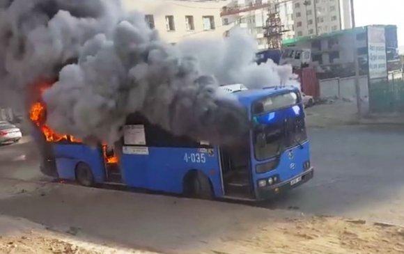 """""""Орбит-Тахилт"""" чиглэлийн автобус шатжээ"""