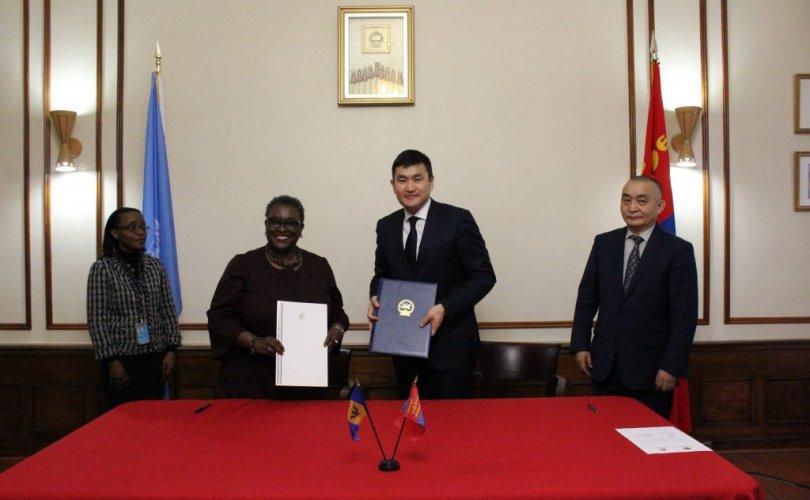 Барбадос улстай дипломат харилцаа тогтоов