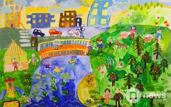 """""""Хүүхдийн ертөнц"""" зургийн уралдааны 6-9 насны ангиллын шагналт байрын бүтээл"""
