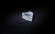 Зүрхэн хэлбэртэй алмааз олджээ