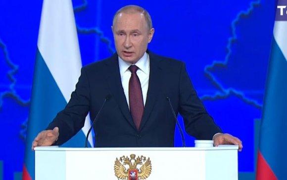 Путин жилийн илгээлтээ тавьж байна