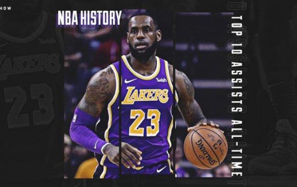 ЛеБрон Жеймс НБА-н бүх цагийн үеийн ТОП-10-д багтсан цорын ганц тоглогч болов