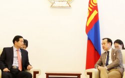 Д.Цогтбаатар БНСУ-аас Монгол Улсад суугаа Элчин сайдыг хүлээн авч уулзав
