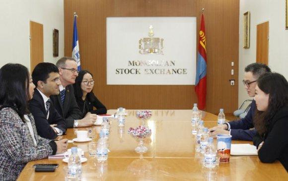 Лондонгийн хөрөнгийн биржийн гүйцэтгэх захирал Монголын хөрөнгийн биржид зочиллоо