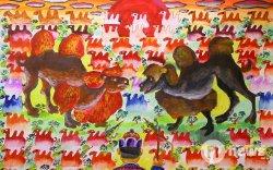 """""""Хүүхдийн ертөнц"""" зургийн уралдааны 10-14 насны ангиллын шилдэг бүтээлүүд"""
