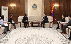 НҮБ-ын Хүнс, хөдөө аж ахуйн байгууллагын Монгол Улс дахь суурин төлөөлөгчийг хүлээн авч уулзлаа